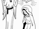 Coloring Pages Of Mary and the Angel Gabriel Annunciation with Angel Gabriel All Saints Day Coloring
