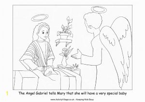 Coloring Pages Of Mary and the Angel Gabriel Mary and the Angel Coloring Page Coloring Home