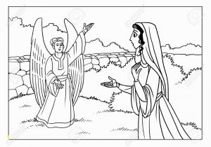 Coloring Pages Of Mary and the Angel Gabriel the Angel Gabriel Appeared to the Virgin Mary and Informs