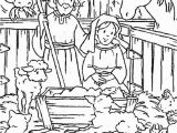 Coloring Pages Of Mary Joseph and Baby Jesus 559 Christian Christmas Free Clipart 3