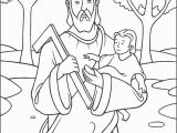 Coloring Pages Of Mary Joseph and Baby Jesus Saint Joseph Coloring Page the Catholic Kid