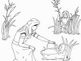 Coloring Pages Of Miriam and Baby Moses Joe Blog Miriam and Baby Moses Coloring Page