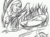 Coloring Pages Of Miriam and Baby Moses Miriam and Baby Moses Coloring Page