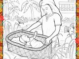 Coloring Pages Of Miriam and Baby Moses Printable Coloring Page for Kids and Adults Bible