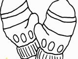 Coloring Pages Of Mittens and Gloves Mittens Invite Template