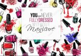 Coloring Pages Of Nail Polish Nail Polish Flyer Backdrop Design Vector Fashion Sketch