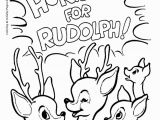 Coloring Pages Of Rudolph and Santa Rudolph Reindeer Coloring Page All Of the Other Reindeer Love