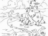Coloring Pages Of Sandcastles Coloring Page Sea Creatures Building A Sand Castle the Beach