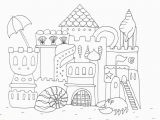 Coloring Pages Of Sandcastles Image Castle Coloring Pages Easy Simple Castle Drawing Free