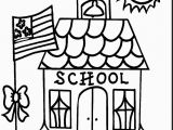 Coloring Pages Of School Building School Coloring Page