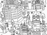 Coloring Pages Of School Building Western Union Building and Jefferson Market Library Coloring Page