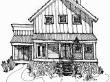 Coloring Pages Of School House My House & Studio In the Country Black Line Drawing Mwoodpen
