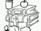 Coloring Pages Of School Supplies Best School Supplies Coloring Sheet Design