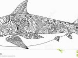 Coloring Pages Of Sharks Printable Shark Line Art Design for Coloring Book for Adult Tattoo T