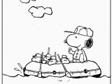 Coloring Pages Of Snoopy and Woodstock Snoopy and Woodstock Rafting Coloring Picture for Kids
