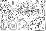Coloring Pages Of Stars and Hearts Sketch Cute Elements Stock Vector Illustration Of Cafe