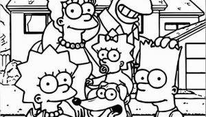 Coloring Pages Of the Simpsons Family Simpsons Family at Street Coloring Page In 2020
