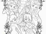 Coloring Pages Of Tinkerbell and Her Fairy Friends Tinkerbell and Friends Coloring Pages at Getdrawings