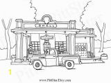 Coloring Pages Of Train Station Instant Download Vintage Truck 1957 Chevy Pickup In Front