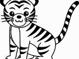 Coloring Pages Of White Tigers Awesome Cute Cat Tiger Coloring Page