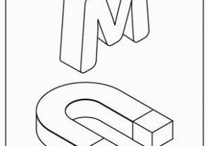 Coloring Pages Printable Letter M M for Magnet In 2020