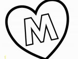 Coloring Pages Printable Letter M M Hearts Colouring Pages