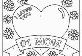 Coloring Pages Printable Mother S Day I Love You Mom
