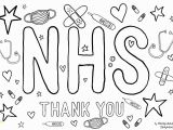Coloring Pages Printable Thank You Coronavirus Show Your Appreciation for Our Nhs Heroes by