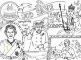 Coloring Pages Queen Elizabeth 1 Queen S 90th Birthday Colouring