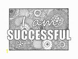 Coloring Pages Quotes for Adults I Am Successful Self Affirmation Adult Coloring Page with
