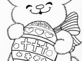 Coloring Pages Religious Easter Printable Catholic Easter Bunny Coloring Page
