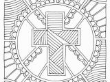 Coloring Pages Religious Easter Printable Coloring Page Cross