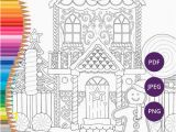Coloring Pages Santa Claus Printable Weihnachten Färbung Seiten Lebkuchenhaus Druckbare Malvorlagen Für Erwachsene Festliche Download Xmas Färbung Druck Färbung Winter