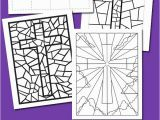Coloring Pages Stained Glass Free Printable Free Stained Glass Coloring Pages and Bookmarks for Easter
