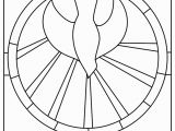 Coloring Pages Stained Glass Free Printable the Holy Spirit Es at Pentecost Stained Glass