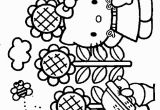 Coloring Pages to Print Hello Kitty Hello Kitty Spring Coloring Pages with Images