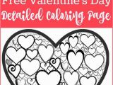 Coloring Pages Valentines Day Printable Free Valentines Day Colouring Page for Adults with Images