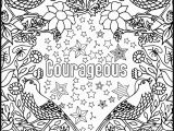 Coloring Pages with Quotes Printable Courageous Positive Word Coloring Book Printable Coloring