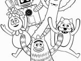 Coloring Pages Yo Gabba Gabba Yo Gabba Gabba Show for Kids Coloring Page Coloring Sun Di