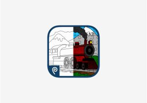Coloring Picture Of Train Engine Color It Puzzle It Trains Lite Im App Store