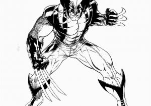 Coloring Pictures Of the X-men Wolverine Ready for Action X Men Coloring Page Printable