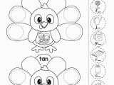 Coloring Turkey Pages for Preschoolers Thanksgiving Math Literacy Worksheets and Activities