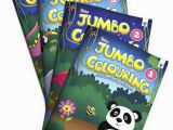 Combo Panda Coloring Page Blossom Jumbo Creative Colouring Books Bo for Kids 3 to 10 Years Old