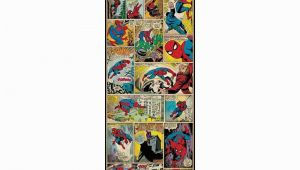 Comic Book Wall Mural 3 In X 17 5 In Marvel Ic Panel Spiderman Classic Peel