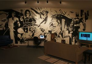 Comic Book Wall Murals Batman Wall Mural Art On Inspiration