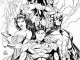 Comic Coloring Pages Justice League Coloring Page Printable