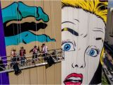 Comic Murals for Walls Buildings Be E Canvases In Las Vegas Explosion Of Murals