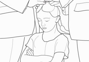 Confirmation Coloring Pages A Primary Coloring Page From the Lds Church A Girl is Confirmed