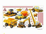 Construction Site Wall Mural Nikima 128 Wall Decal Construction Site Excavator Truck