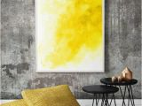 Contemporary Wall Decals Murals Off Yellow Watercolor Wall Art Modern Wall by